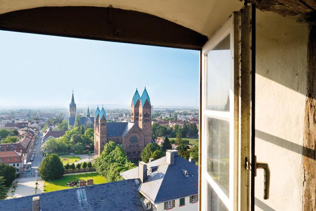 Bad Homburg - Ausblick auf Erlöserkirche