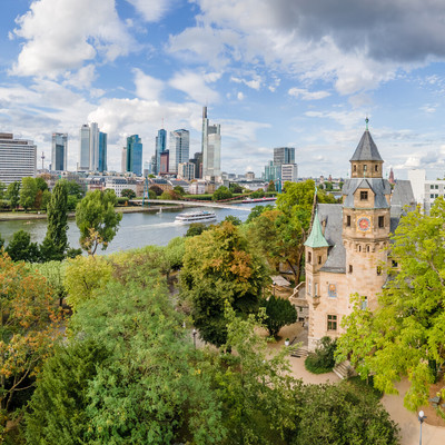 Frankfurt am Main - Skylineblick Liebieghaus