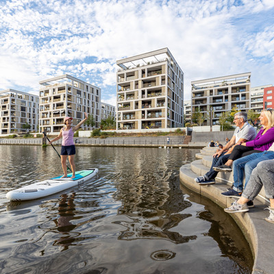 Stadt Offenbach - Mainufer Stand-Up Paddling